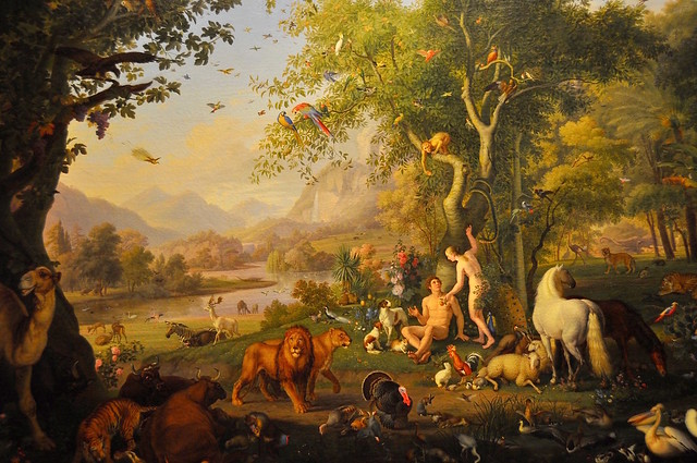 Adam and Eve in the Garden of Eden by Wenzel Peter, Vatican Museum, https://www.flickr.com/photos/44534236@N00/16895519109/in/photostream/