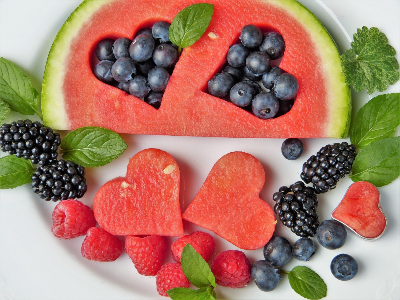 Photo by silviarita. https://pixabay.com/photos/fruit-watermelon-fruits-heart-2367029/